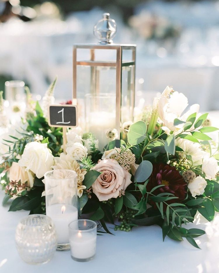 """Flower Table Decorations For Weddings: Style Me Pretty On Instagram: """"This Wedding Is Detailed"""