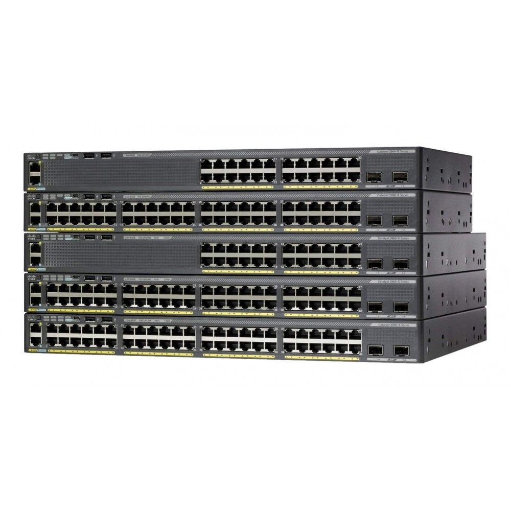 Catalyst 2960 X 48 Gige Poe 740w 2 X 10g Sfp Lan Base Cisco Switch Gigabit Switch Hubs Switches