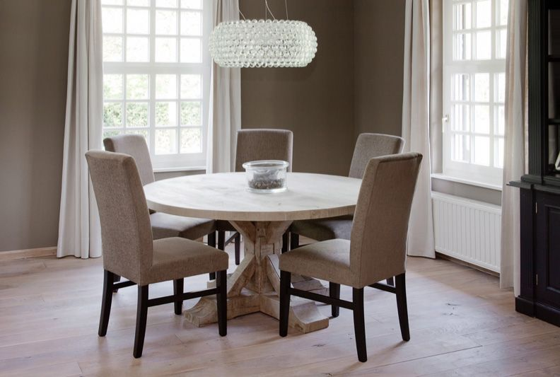 Malvini Round Rustic Table  My Home  Pinterest  Rustic Table Amazing Oak Dining Room Design Inspiration