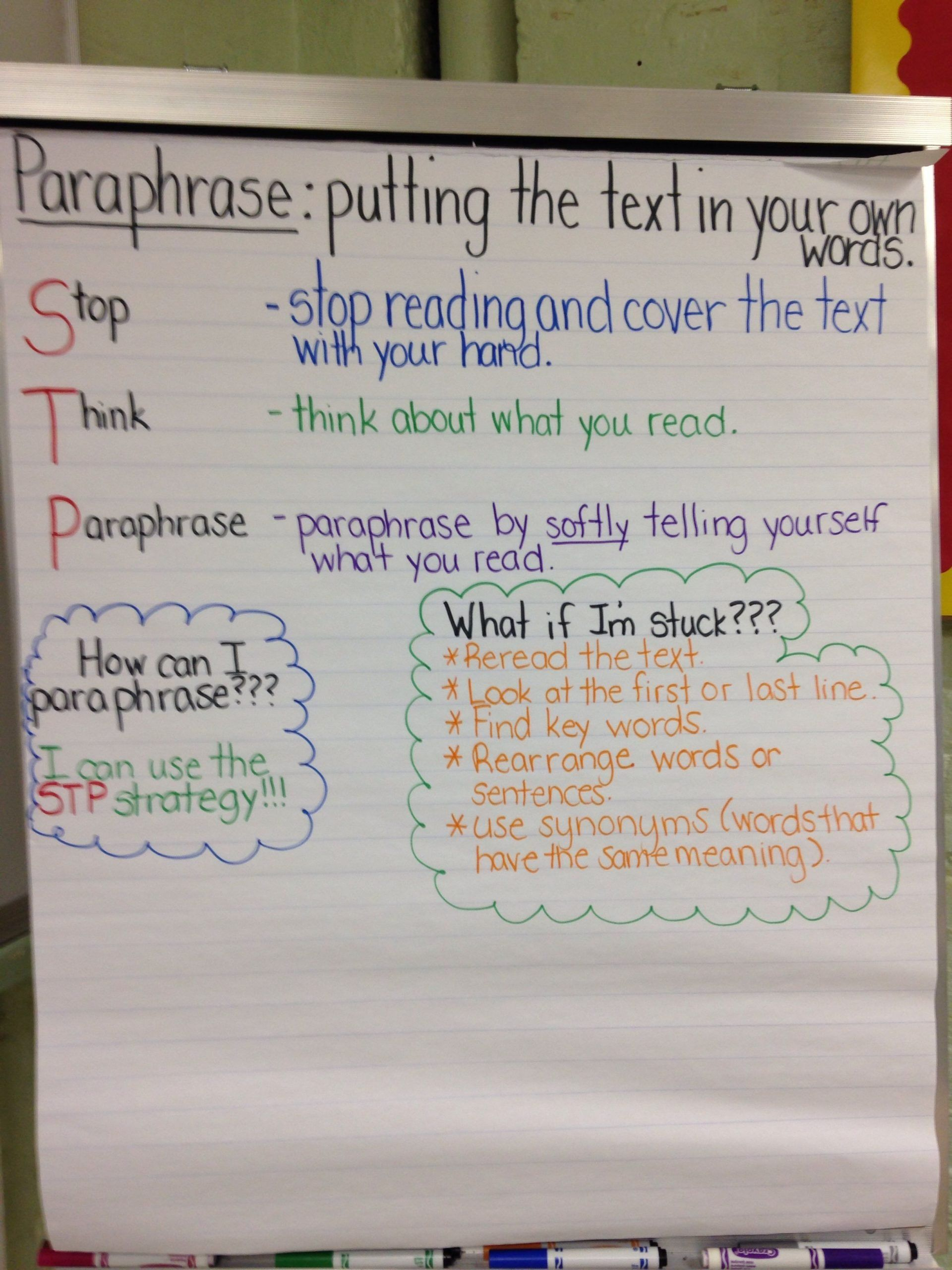 Paraphrase Worksheet Middle School Paraphrasing Powerpoint 4th Grade Teaching Writing Lesson Literacy Standard