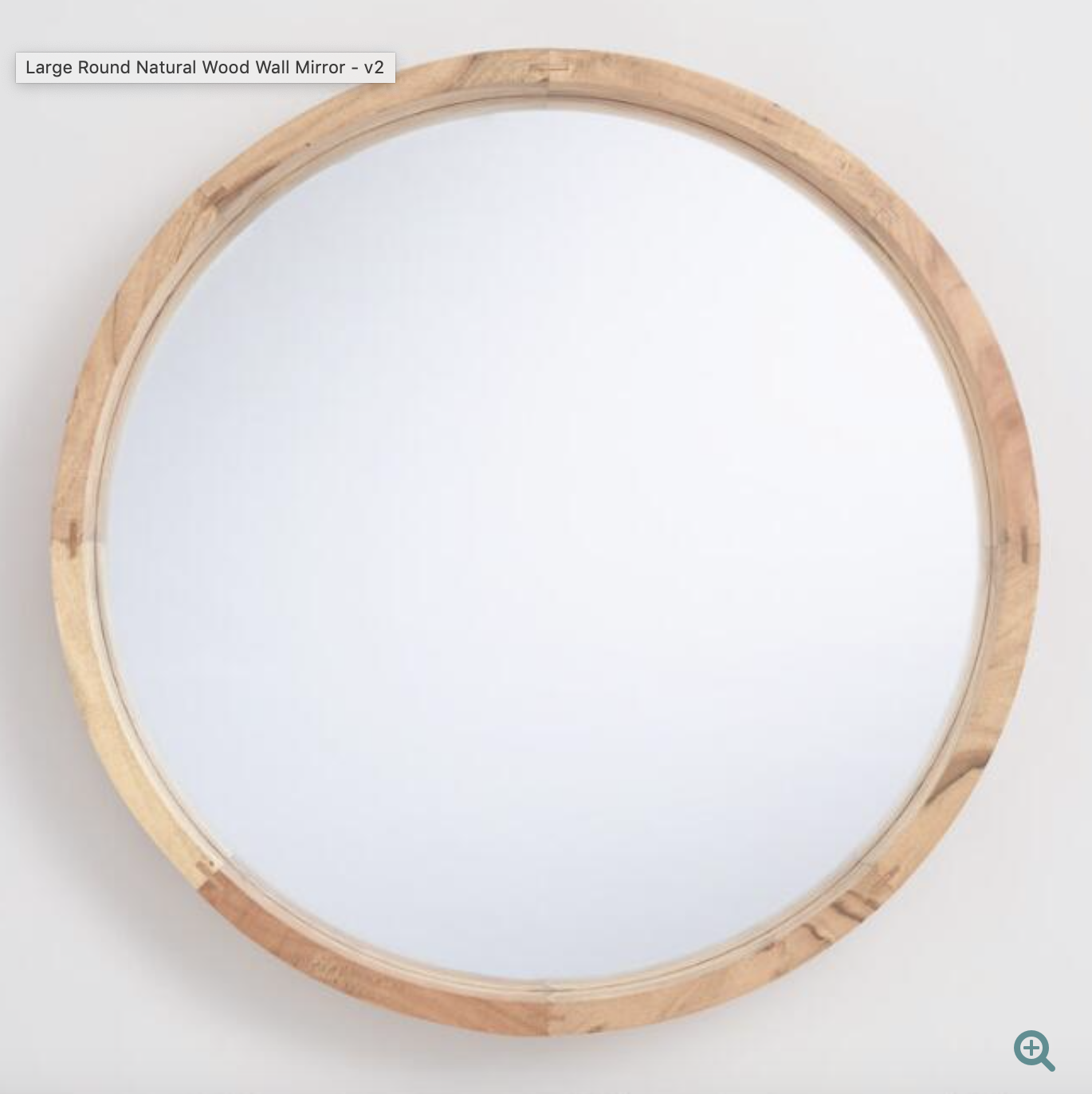 Large Round Natural Wood Wall Mirror Wood Wall Mirror Wood