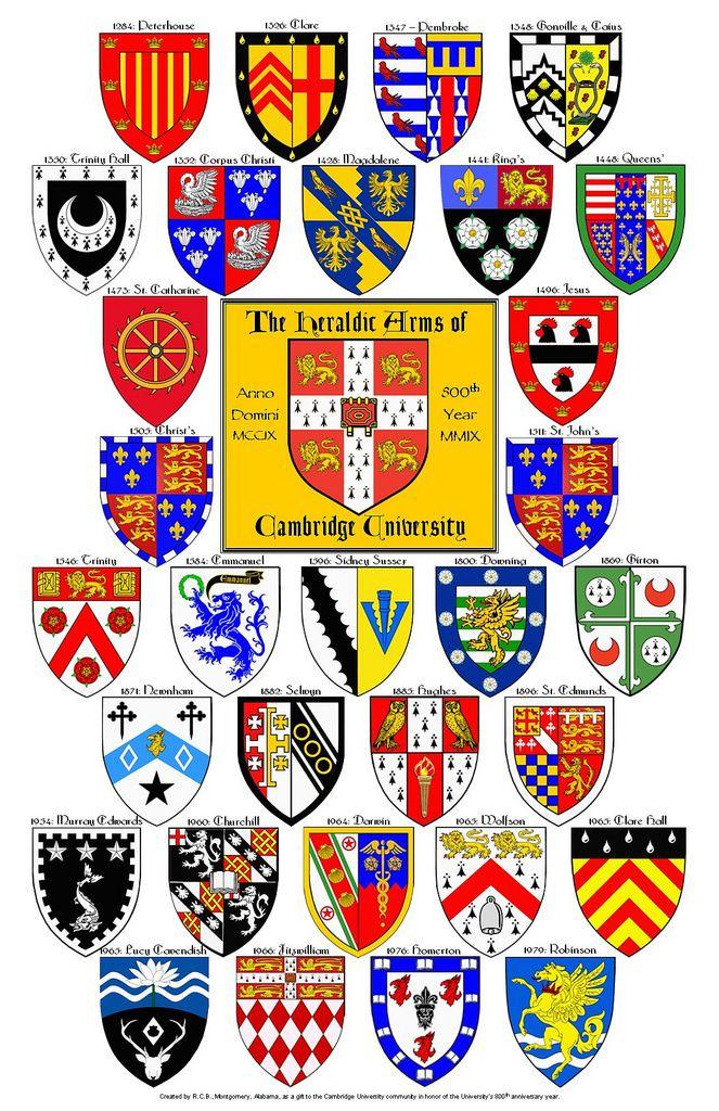 Cambridge University College Arms Cambridge University Colleges