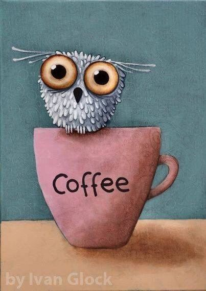 art coffee 𗁮𗁭☕️💝💌☕️𗂁👅👁🦉☕️𗁩🙃🙀 | Gufi disegno ...