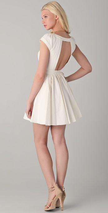 Not crazy about the front. The Perfect Mix of Sexy and Elegance: Open-Back Dress by Rachel Zoe | THE FLYCANDY POST