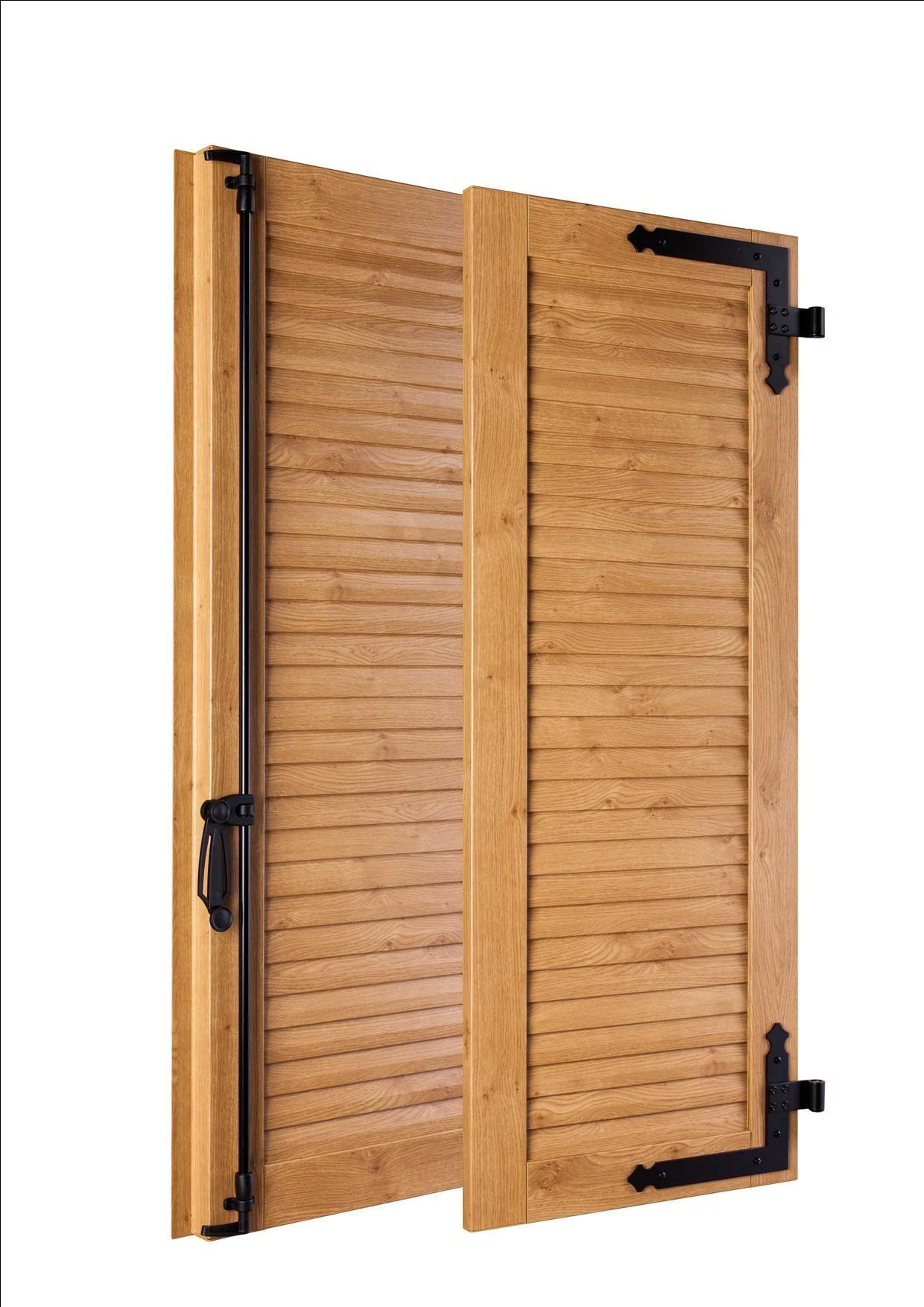 Volets Battants En Pvc Persiennes A Lames Jointives Toutes Lames Couleur Chene Irlandais Tall Cabinet Storage Tall Storage Storage Cabinet