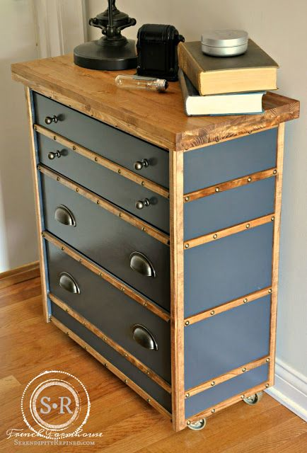 diy ikea commode rast style industriel tutorials diy ideas for home pinterest. Black Bedroom Furniture Sets. Home Design Ideas