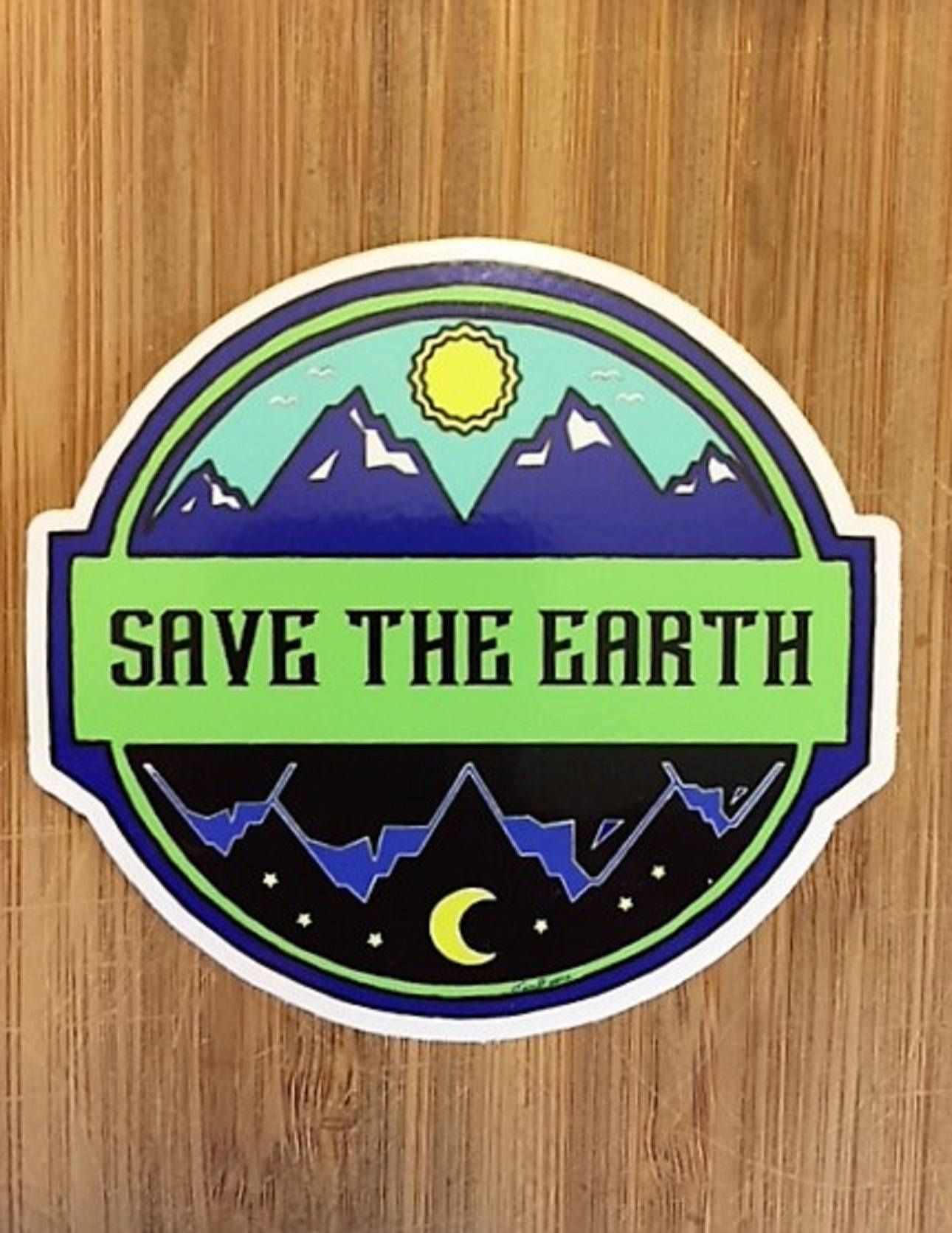 Save The Earth Sticker Earth Stickerclimate Change Sticker Etsy Save Earth Climate Change Activities Earth [ 1671 x 1290 Pixel ]