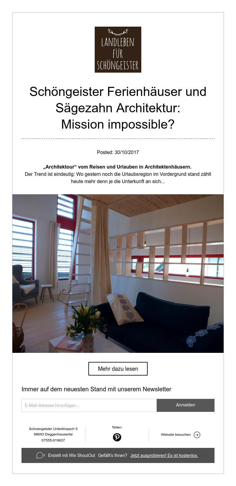 Schöngeister Ferienhäuser und Sägezahn Architektur: Mission ...