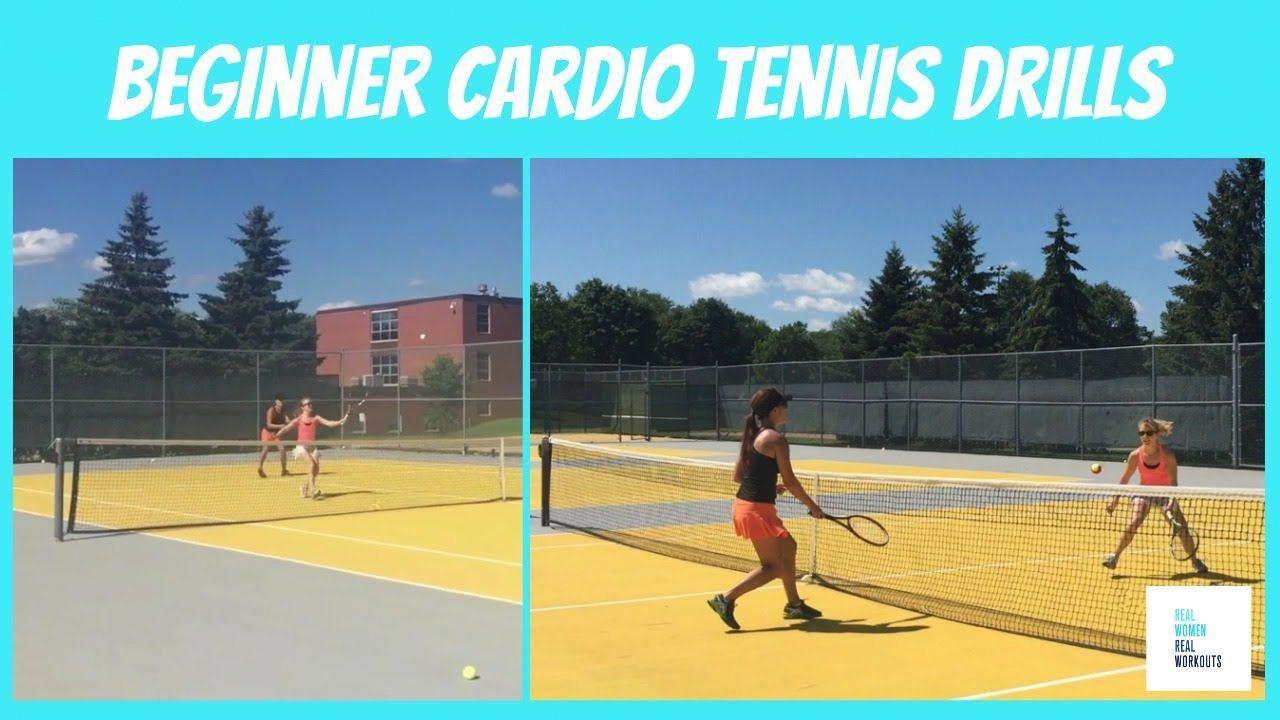 Beginner Cardio Tennis Drills Tennis drills, Beginners