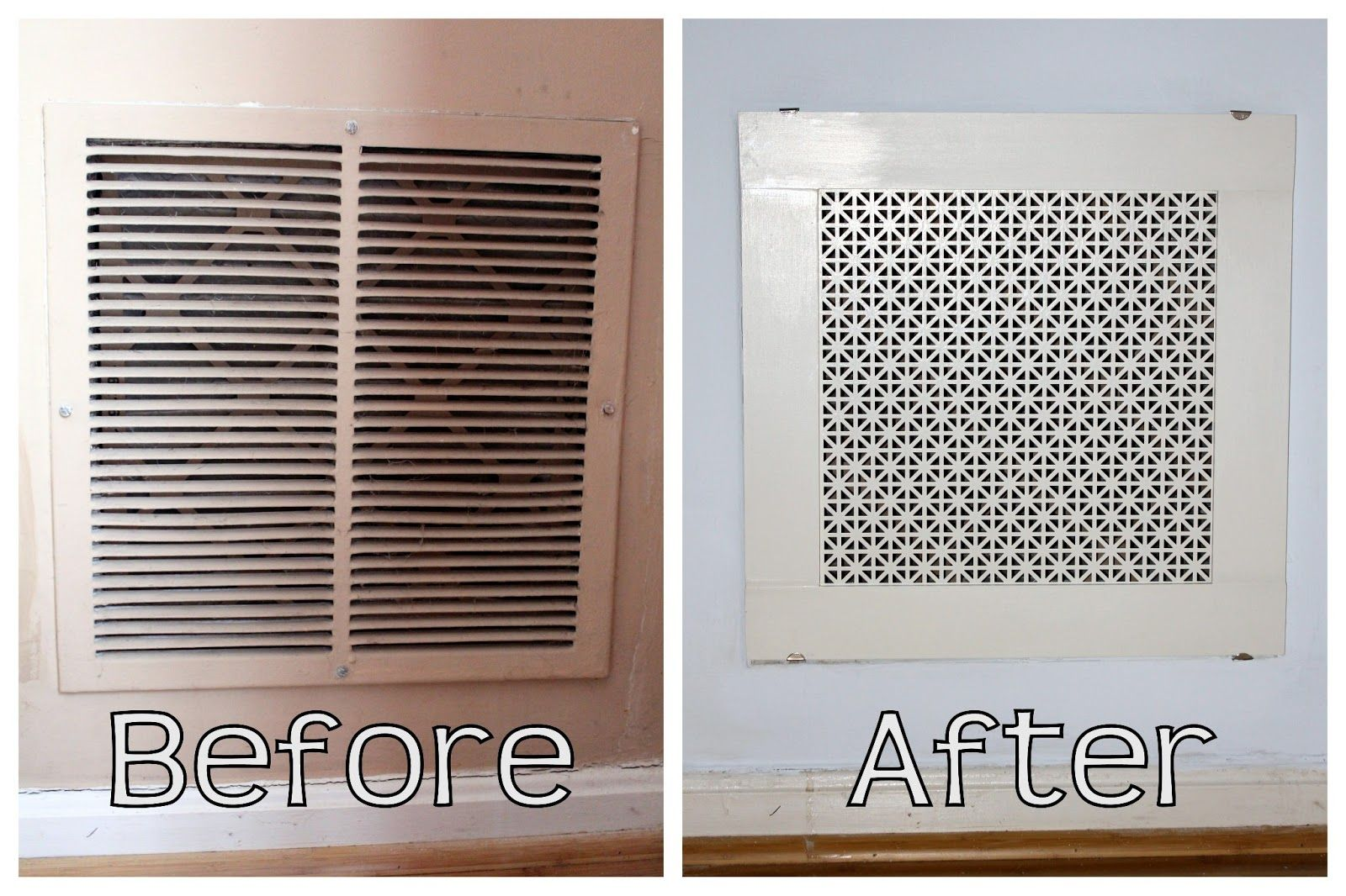 DIY Return Air Grille {That's actually pretty!}, used