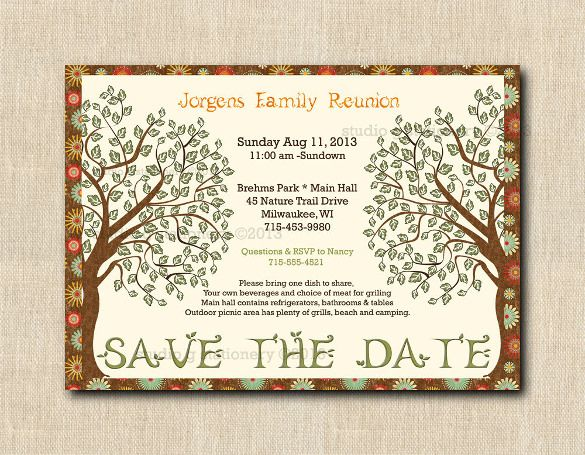 25+ Family Reunion Invitation Templates   Free PSD Invitations Download |  Free U0026 Premium Templates  Free Printable Family Reunion Templates