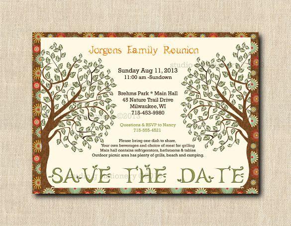 35 Family Reunion Invitation Templates Psd Vector Eps