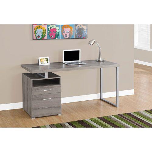 Rehaussez Votre Espace De Bureau Avec Ce Bureau Epure Et Contemporain Comprenant Une Surfac White Computer Desk Contemporary Computer Desk Metal Computer Desk