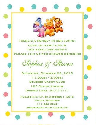 Customized Winnie The Baby Pooh And Friends Shower Invitations Party Stationary Rosemary Company