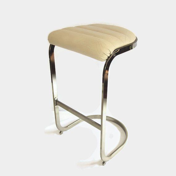 Pleasant Vintage Brass Cantilever Bar Stool Milo Baughman Style Pdpeps Interior Chair Design Pdpepsorg