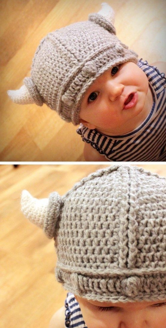 Lael Viking Hat (Sizes Newborn to Adult) | Crochet patterns baby ...