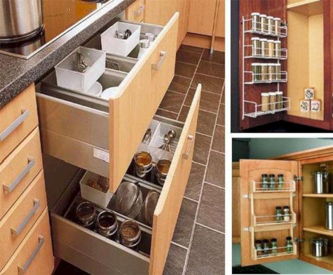25 gorgeous kitchen storage ideas for small spaces freshouz com kitchen cabinet storage on kitchen organization for small spaces id=11351