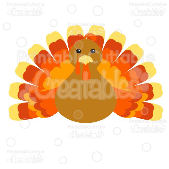 Cute Thanksgiving Turkey FREE Cutting File & Clipart - SVG ...