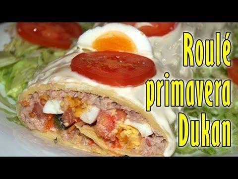 Roulé primavera con atún Dukan - Receta fase crucero - Tuna Roll - Phase 2 - Cruise recipe - YouTube