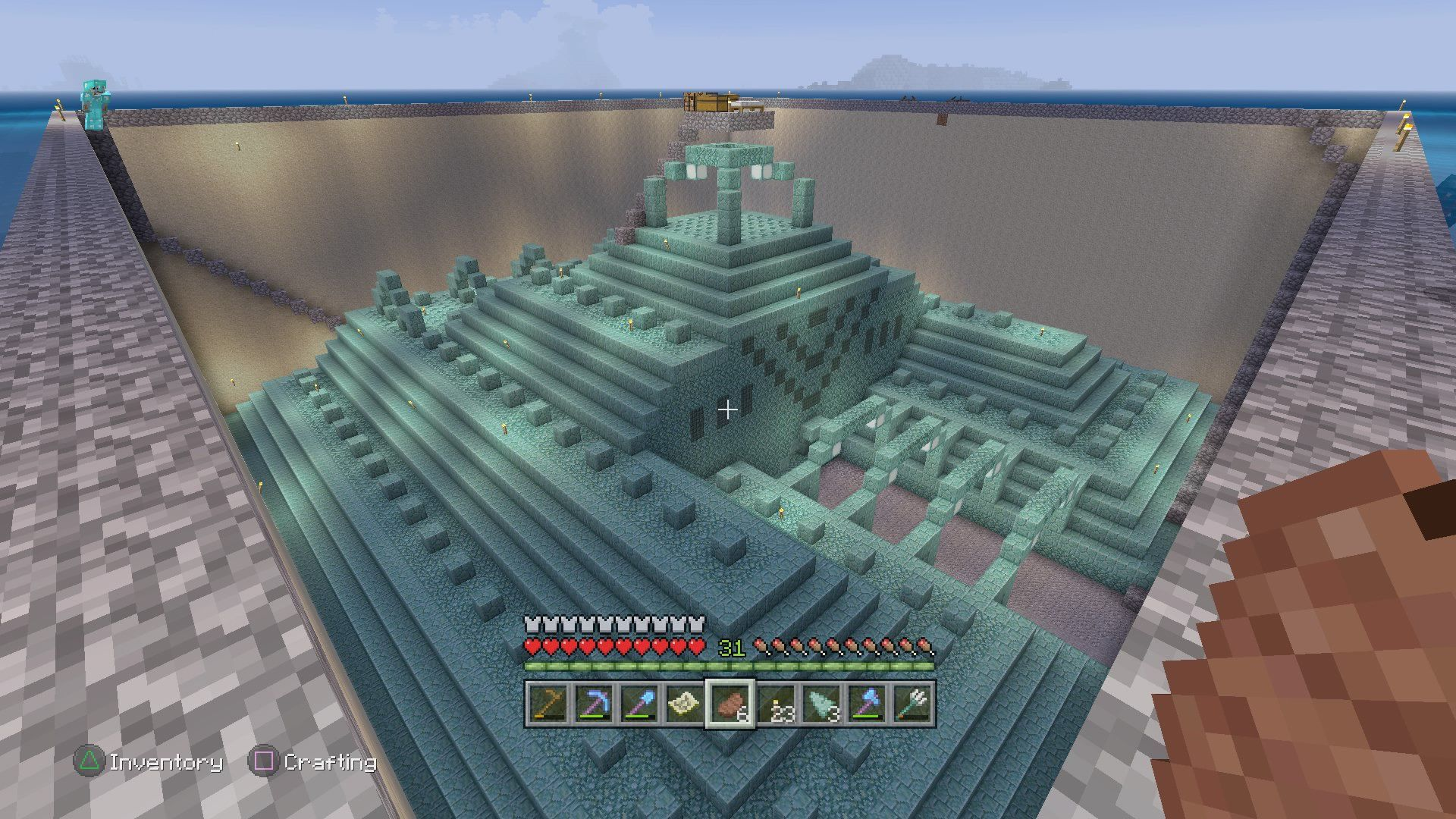 I took one of those underwater temples and thought it would be