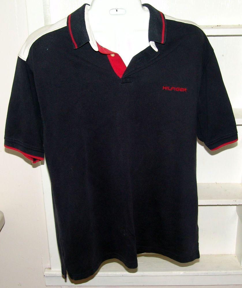 58518a112 VTG Tommy Hilfiger Red White Blue Men s Polo Shirt XL.  TOMYHILFIGER  polo