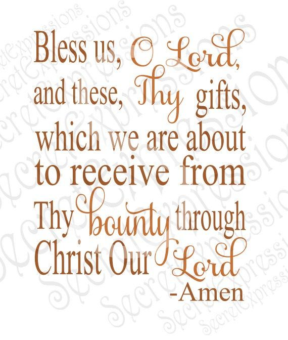 bless us o lord svg these thy gifts svg bounty svg meal blessing
