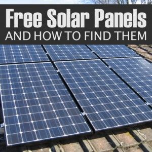 free solar panels how to find them alternative energy. Black Bedroom Furniture Sets. Home Design Ideas
