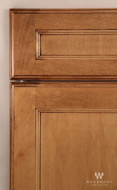 Woodmont Cabinet In Amsterdam Maple Toast Reverse Panel 5 Pc Drawer