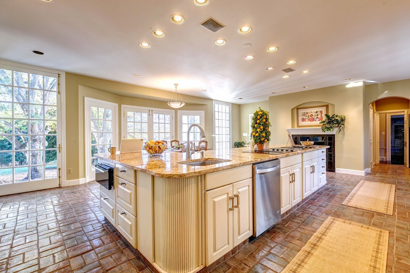 Beige Design Ideas Island Kitchen Decorating With Granite Counter Top Marble  Table Great For Kitchen Classic