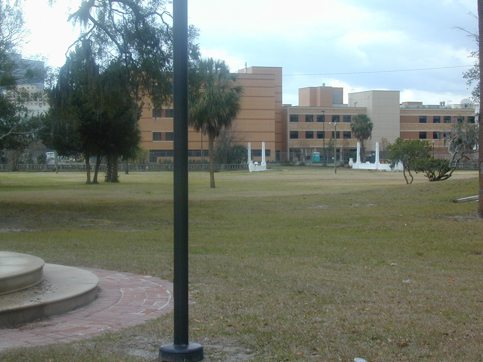 Springfield Historic District, Jacksonville, FL, The Health Dept. on one side of Hogan Park