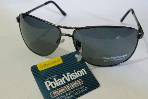 a063488520 Style Science Polar Vision Aviators 100 % UVA UVB   Polarized Sunglasses