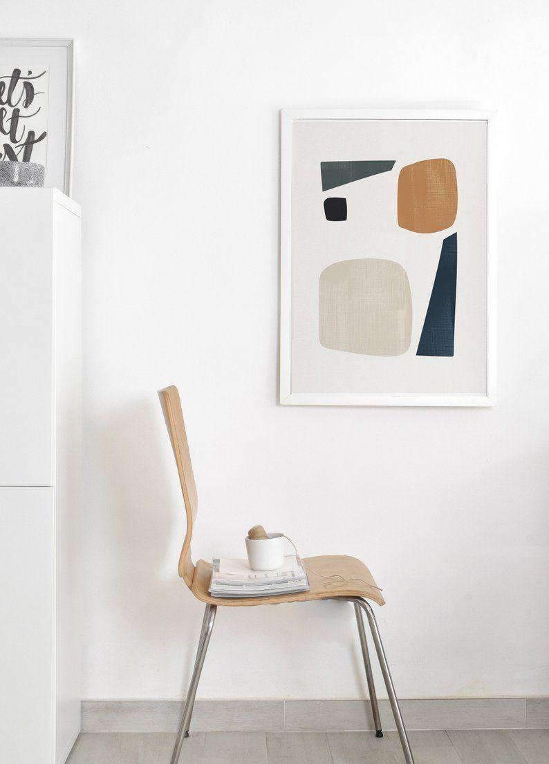 Minimalist Art Print Minimal Wall Abstract Shapes
