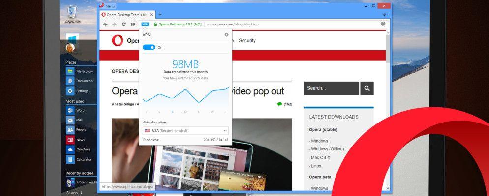 Get Free Unlimited VPN on the New Opera Desktop Browser