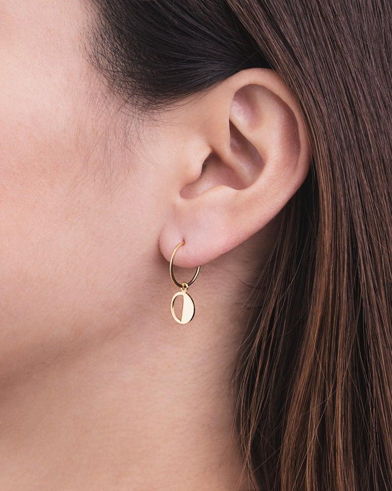 boucle d'oreille femme anneau