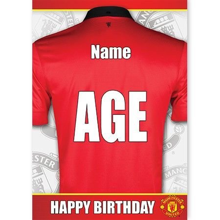 For A True Manchester United Fan Personalise This Greeting Card With Age And Name Http Spacehippo Cards Manchester United Fans Manchester United The Unit
