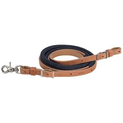 """Suede Covered Barrel Rein, 5/8"""" x 8' - Weaver Leather Equine"""