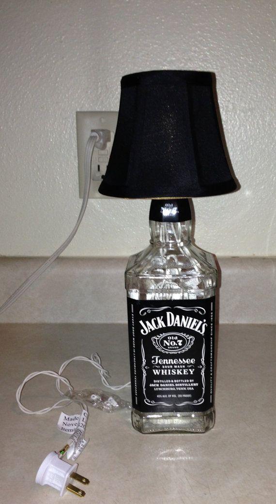 Jack Danielu0027s Lighted Bottle Lamp By ALittleBitCorkie On Etsy