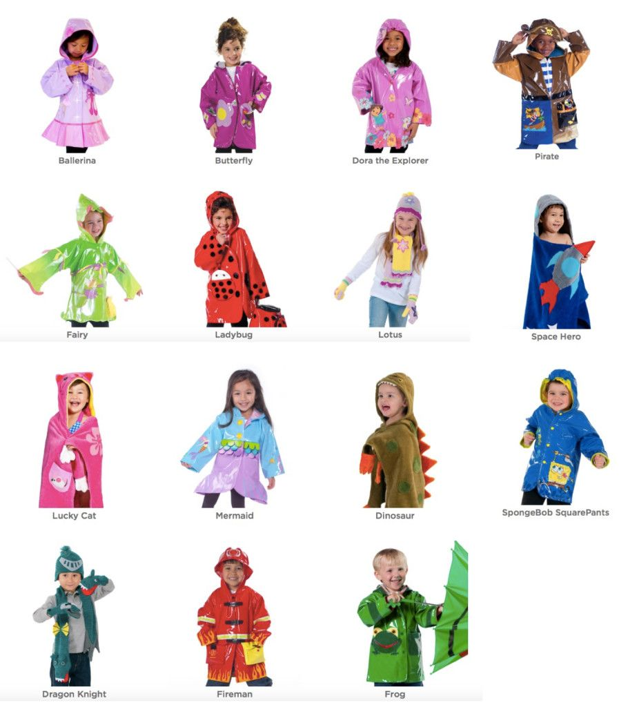 kidorable rain gear doubles as halloween costumes | mommematch