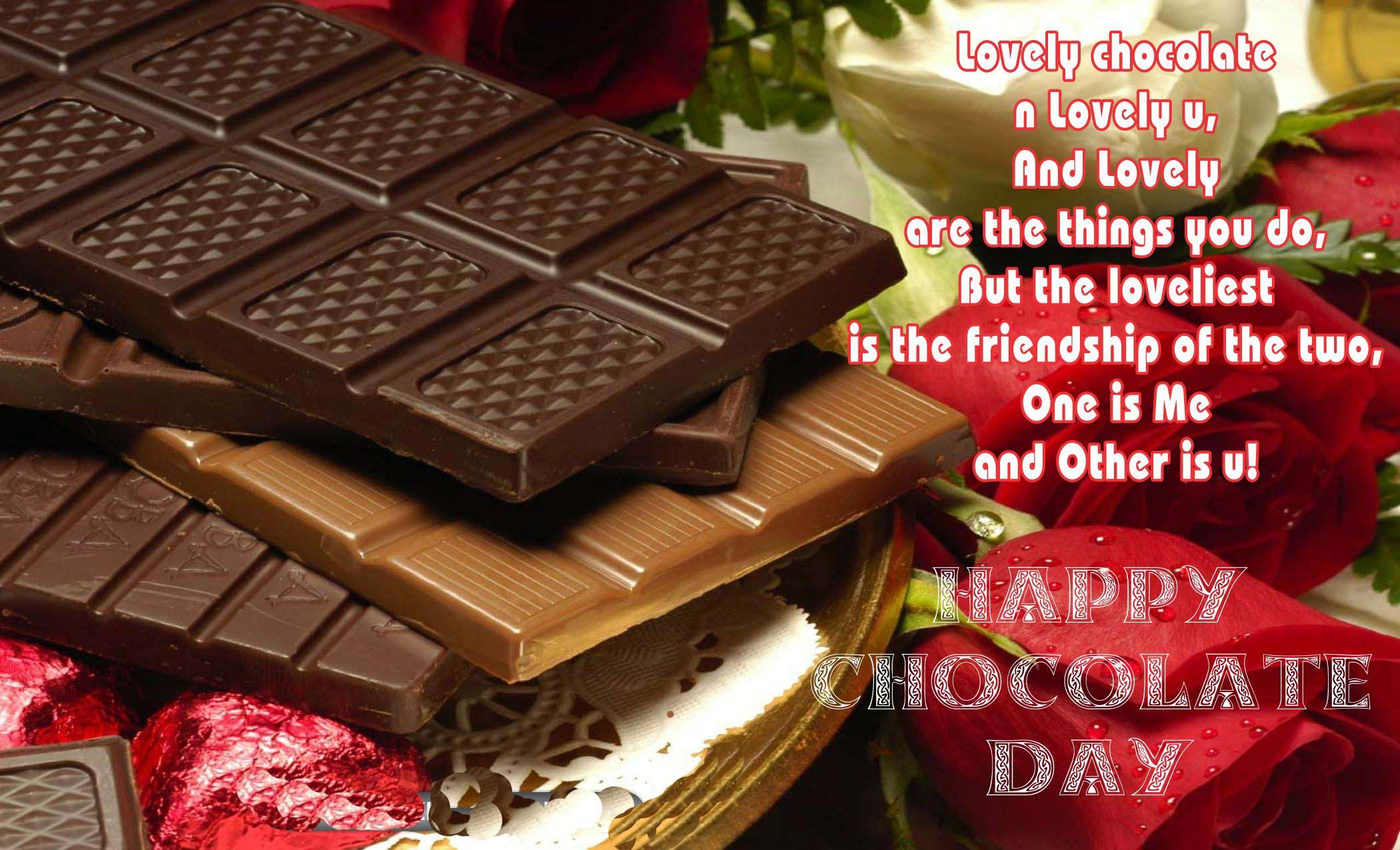 9th Of February Is National Chocolate Day Awesome Happy Chocolate Day Chocolate Day Images Happy Chocolate Day Wishes Happy romantic chocolate day images for