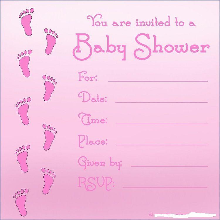 baby girl shower invitations printable Invitation card Pinterest