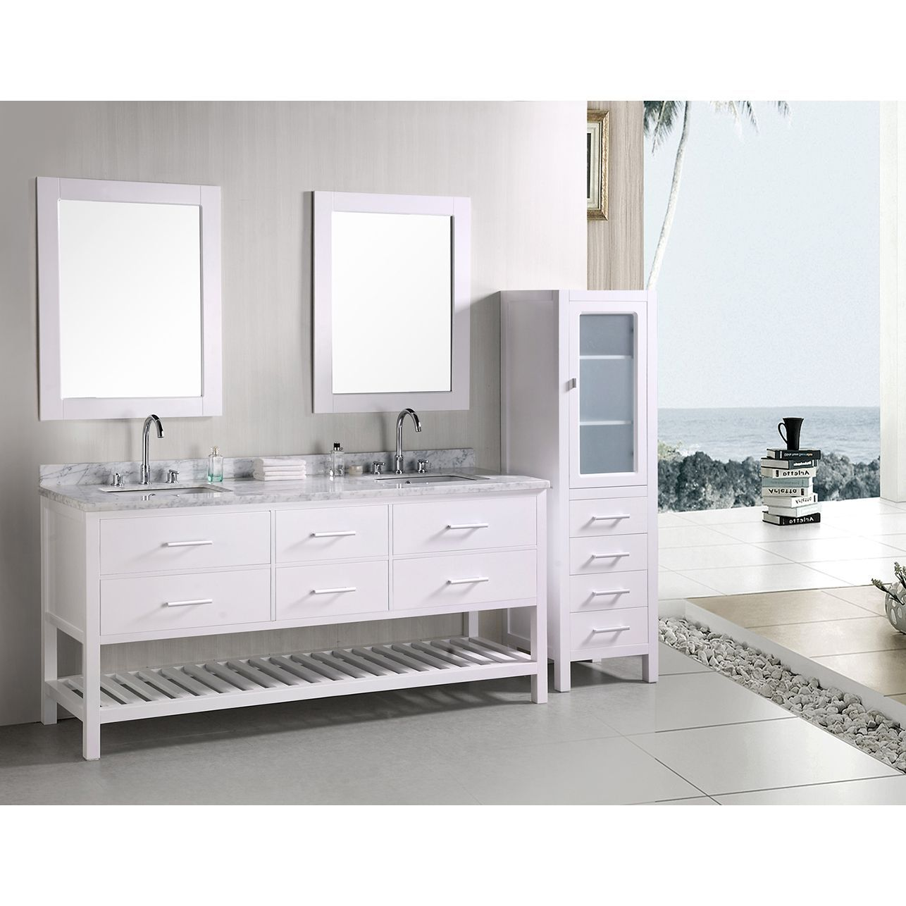 Design Element London 72Inch Double Sink Bathroom Vanity Set Classy 72 Inch Bathroom Vanity Double Sink Decorating Inspiration