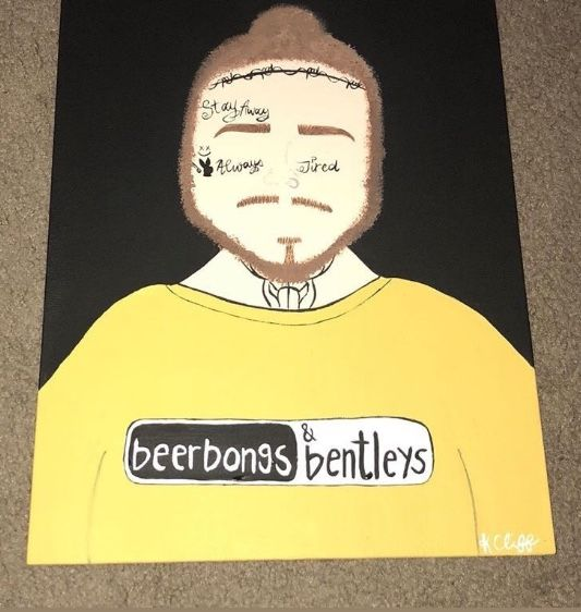 Post Malone Aesthetic: Music Painting Canvas, Music