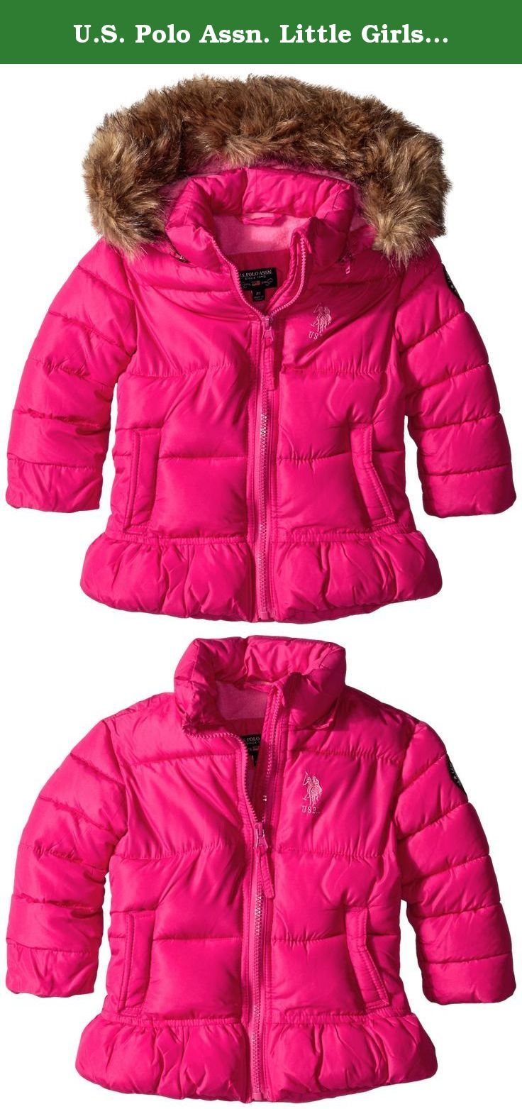 Pink Platinum Girls Winter Jacket Water Repellent Fleece Lined Bubble Puffer Coat with Matching Scarf and Hat