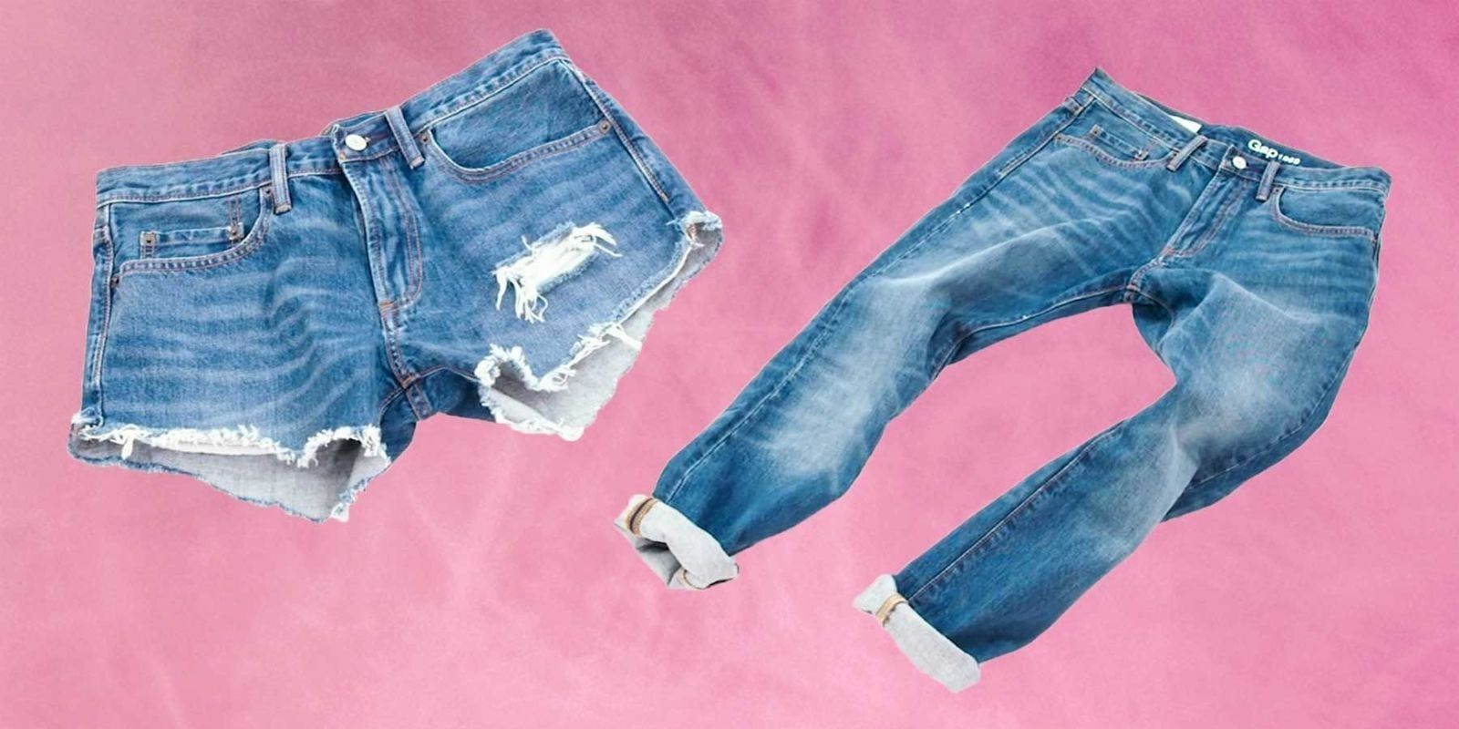 This Video Brilliantly Shows How to Turn Your Old Jeans Into Cutoff Shorts