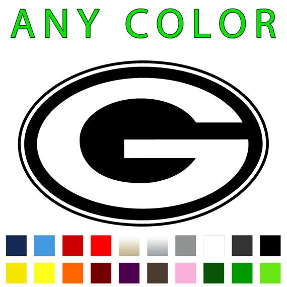 Nfl green bay packers vinyl decal any color by stickermaniadecals 6 00