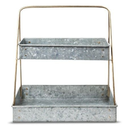 Smith Hawken Galvanized 2 Tier Plant Stand Want