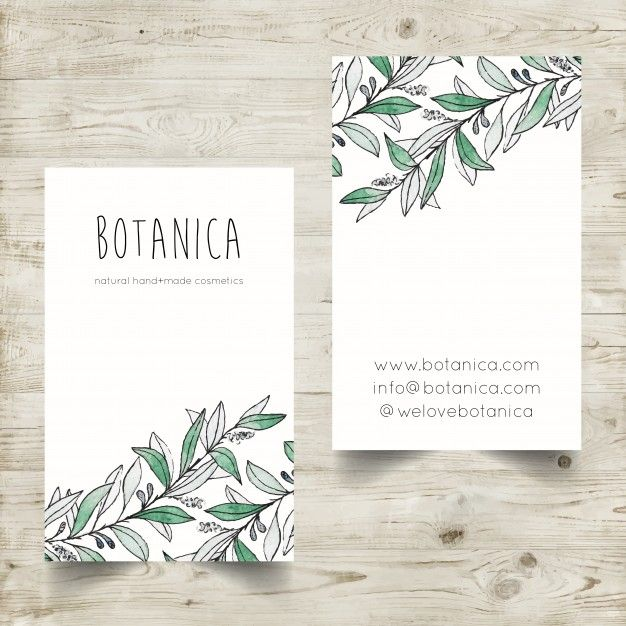 Download Hand Painted Watercolor Business Card Template With Botanical Elements For Free Watercolor Business Cards Business Card Design Card Design