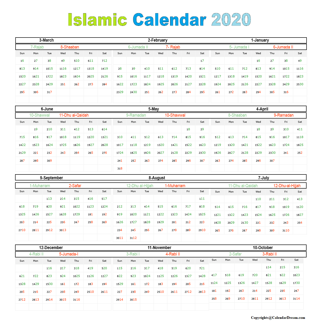 Ramadan Calender 2020 Fasting And Opening Schedule Of Fast Hijri Calendar Islamic Calendar Calendar 2020