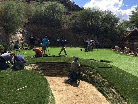 PlushGrass Custom Synthetic Turf traveled to Arizona to ...