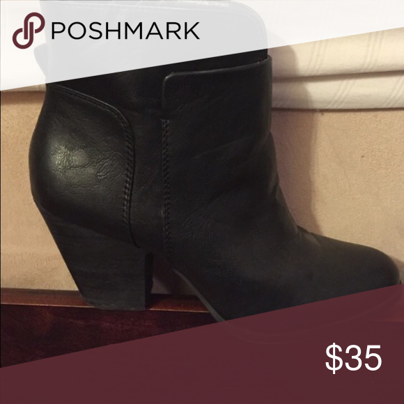 Nine West Vegan Bootie EUC. Comfortable stack heel. Gently worn with lots of life left in them. Great with skinniest, dresses and skirts. Comfortable fashion statement go to look! Nine West Shoes Ankle Boots & Booties